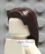 NEW Lego Minifig Girl/Boy Long Dark BROWN HAIR -Female/Male Minifigure Head Gear