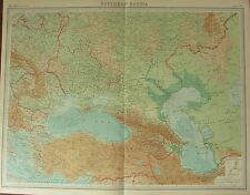 1922 LARGE ANTIQUE MAP ~ SOUTHERN RUSSIA ~ CONSTANTINOPLE BULGARIA UKRAINE
