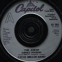 """STEVE MILLER BAND the joker 7"""" WS EX/ uk capitol CL 583"""