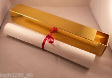 10 scatole di scorrimento GOLD PLUS dieci scorre in bianco e nastri di seta