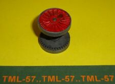 Roue JEP HO métal pour loco vapeur ou 2D2 diam 20 mm ss boudin (rouge à rayons)