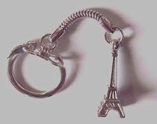 Porte clés * Tour EIFFEL * Paris France * métal argenté * attache