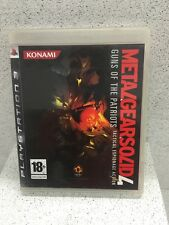 METAL GEARSOLID 4 GUNS OF PATRIOTS JEUX PS3 AVEC NOTICE PLAYSTATION