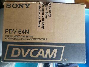 Lot of 10 SONY DVCAM PDV- 64N  Digital Video Cassette Tapes  Used