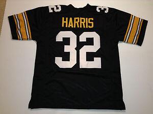 UNSIGNED CUSTOM Sewn Stitched Franco Harris Black Jersey - M, L, XL, 2XL