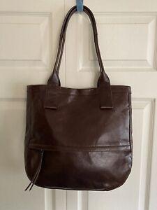 New Hobo International Brown Leather Tote Shoulder Bag Large