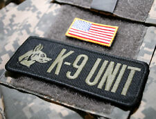 ISAF JSOC JTF BATTLE TESTED SPECIAL WARFARE EOD TEAM SSI: K-9 UNIT + US Flag Tab