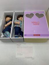 American Girl Bitty Twin Baby Dolls Set - Brown Hair & Eyes in Box Retired