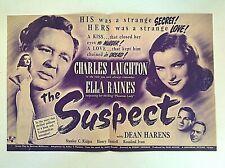 Vintage 1944 Movie Herald THE SUSPECT Charles Laughton Ella Raines Thriller Film