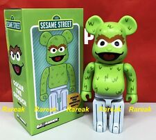 Medicom 2017 Be@rbrick Sesame Street 400% Oscar The Grouch Green Bearbrick 1pc