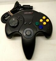 Retro-Bit Tribute 64 Controller for Nintendo N64 Original Port Black