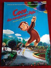 Coco Der neugierige Affe Kinoplakat Poster A1, Kinderfilm, Animation