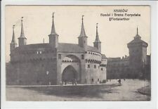 AK Krakow, Krakau, Rondel i Brama Floryanska, Feldpost um 1915