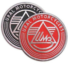 VEGASBEE® URAL MOTORCYCLES EMBROIDERED PATCH BIKE SIDECAR IRON-ON SET OF 2