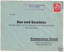 Landpoststempel, Poststelle II, Grüningen über Großwusterwitz (Bz. Magdeburg)