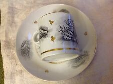 SALE! Barr Flight and Barr Worcester Porcelain Seashell & seaweed cup saucer