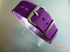 Uhrenarmband Nylon violett lila 18 mm NATO BAND Dornschließe Textil