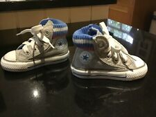 Toddler Converse All Star Hi Tops in Grey with Knitted Cuff, Infant Size 3
