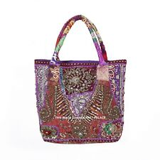 ab26d2aa00 Pretty Indian patchwork bag / hippy / boho / ethnic Sequins Beaded Indian  Bag
