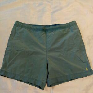 Polo Ralph Lauren Men's Teal Classic Short Swim Trunks Yellow Pony Size M Medium