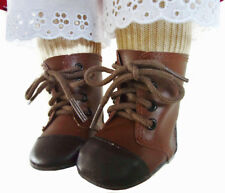 "Brown Two Tone 1800 Boots fit 18"" American Girl Kirsten Pioner Era Doll Clothes"