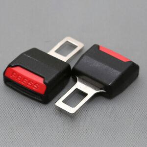 2Pcs Universal Car Safety Seat Belt Extender Extension Buckle Lock Clips Plug UK