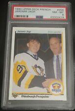 1990 Upper Deck French Jaromir Jagr #356 PSA 8 - RC Rookie Card!