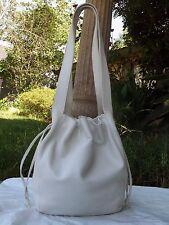 Coach Lexington Drawstring 4180 Leather Shoulder Saddle Bag Near Vintage Italy