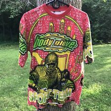 Vintage 90S Body Glove All Over Print T Shirt Sport Team Football NFL USA Mens L