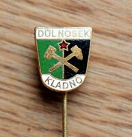 Mining Dul Nosek Kladno Hammer and Pick Vintage Czechoslovakia Pin Badge