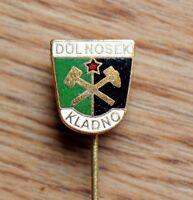 Mining Dul Nosek Kladno Hammer and Pick Vintage Czechoslovakia Pin Badge