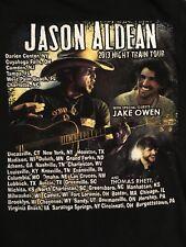 Jason Aldean 2013 Night Train Tour T Shirt Size S