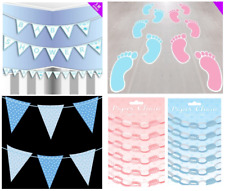 Baby Shower Boy Girl Party Decorations Wall Ceiling Garlands Banner Pram Welcome