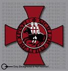 Knights Templar Seal Catholic Christian Mason Cross sticker decal