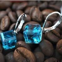Women Fashion Ear Buckle Magic Crystal Earrings Ear Clip Jewelry Gifts