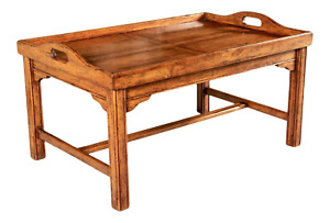 Fruitwood Butler's Tray-Top Coffee Table By Bausman