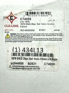 CLE-LINE C74059 25pc Set Hss 118 Degrees Drill Bit Set Free Expedited Shipping