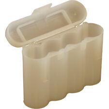 2 WHITE AA AAA BATTERY BATTERY PLASTIC STORAGE CASE HOLDER BOX