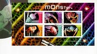 L5381sbs Australia 2009 Micromonsters Mini Sheet FDC