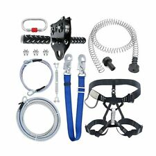 98 Feet Zip Line Kit for Kids and Adult Up to 350 lb with Zipline Spring Brak.
