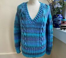 Hand knitted Marble Chunky Cable Sweater Seablush by Bexknitwear