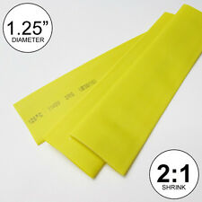 "1.25"" ID Yellow Heat Shrink Tubing 2:1 ratio 1-1/4 wrap (2 feet) inch/ft/to 30mm"