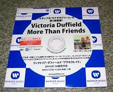 VICTORIA DUFFIELD Japan PROMO ONLY CD acetate OFFICIAL genuine MORE THAN FRIENDS