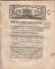 1773 IMPORTANT RARE FACTUM BELLAC HAUTE VIENNE
