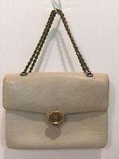 FINESSE LA MODEL Beige Reptile Skin Purse Handbag Vintage Early Piece