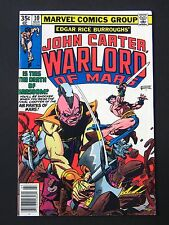 John Carter Warlord of Mars #10 1977  VF+  High Grade Marvel Comic