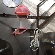 Petite lampe baladeuse spot a pince champignon Sarlam vintage rose