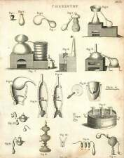 1802  Chemistry Apparatus And Distillation Copperplate