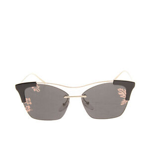 RRP€200 PRADA Butterfly Sunglasses Hawaiian Pattern Partly Rimless Made in Italy