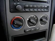 D Opel Astra G Chrom Ringe für Gebläseschalter - Edelstahl poliert 3 Teile